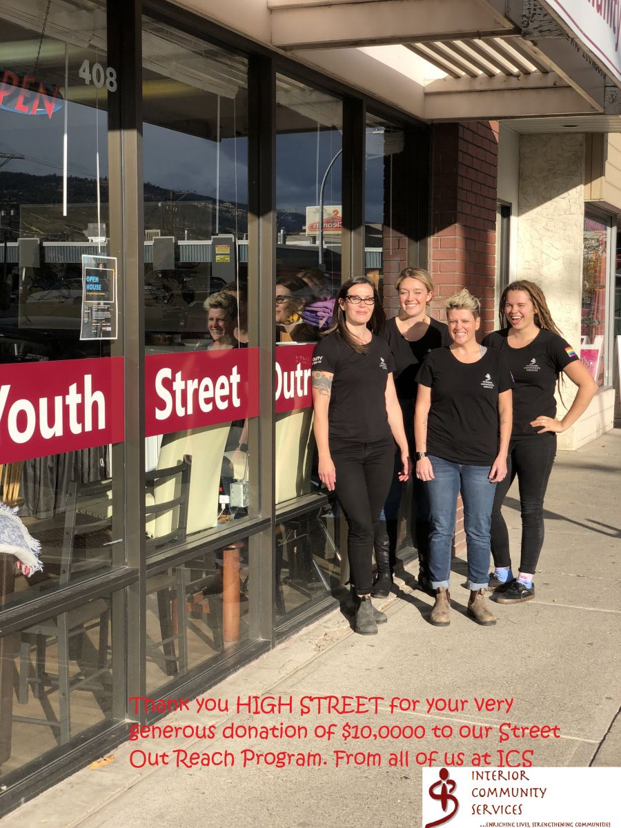 Thank you HIGH STREET for your very generous donation of $10,0000